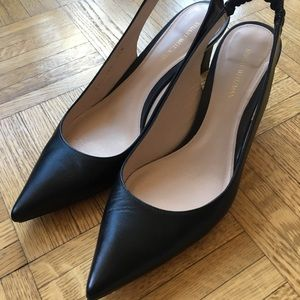 a7ecb840ca3 Stuart Weitzman Shoes - Stuart Weitzman Hayday Leather Slingback Pumps